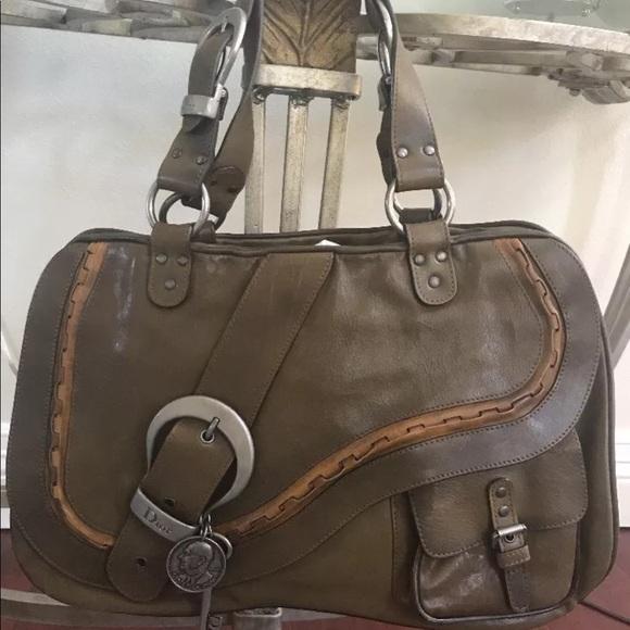 Dior Bags   Christian Gaucho Saddle Bag   Poshmark 65065864a9